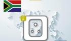 Steckdose in Südafrika Steckertyp M