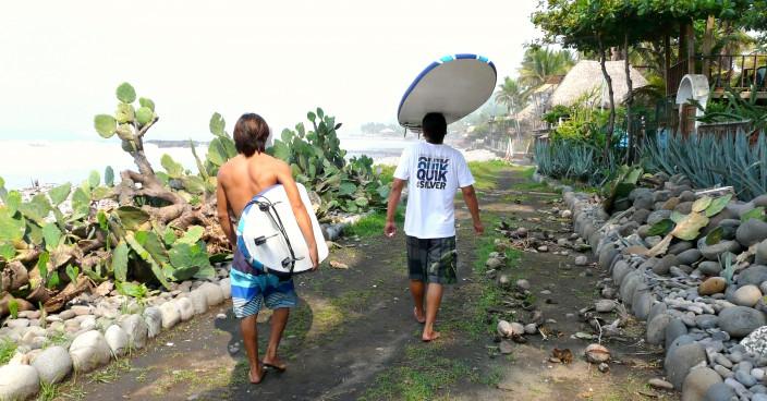 Surfer in El Salvador