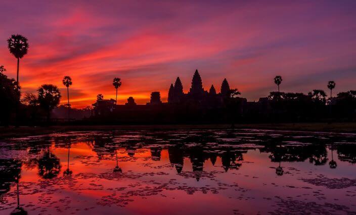 Angkor Wat in Kambodscha bei SonnenaufgangERV-Blog