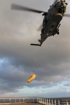 Ausschiffung per Helikopter