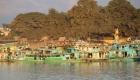Ayeyarwady Fluss Fischerboote