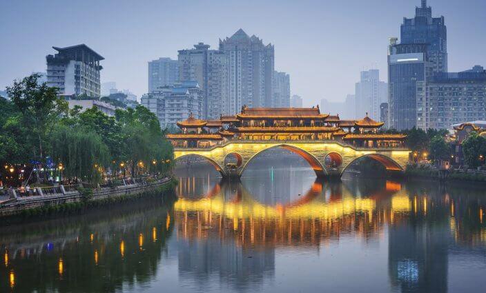 Chengdu in China