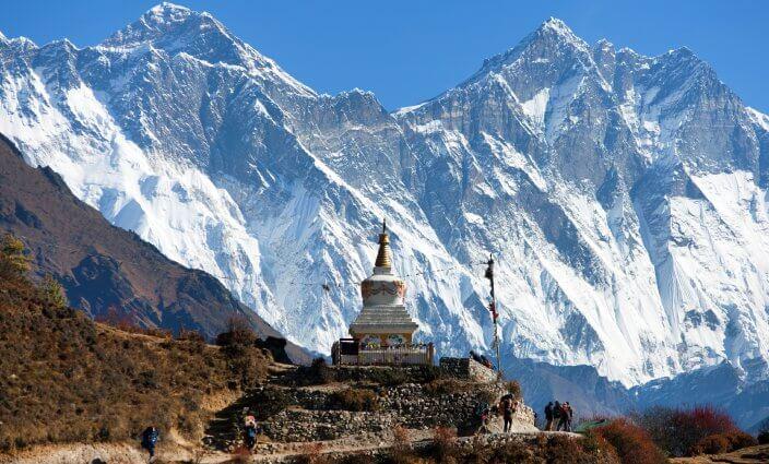Trekking-Strecke zum Mount Everest