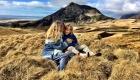Island mit Kind - Landschaft