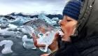 Island mit Kind - Wasser