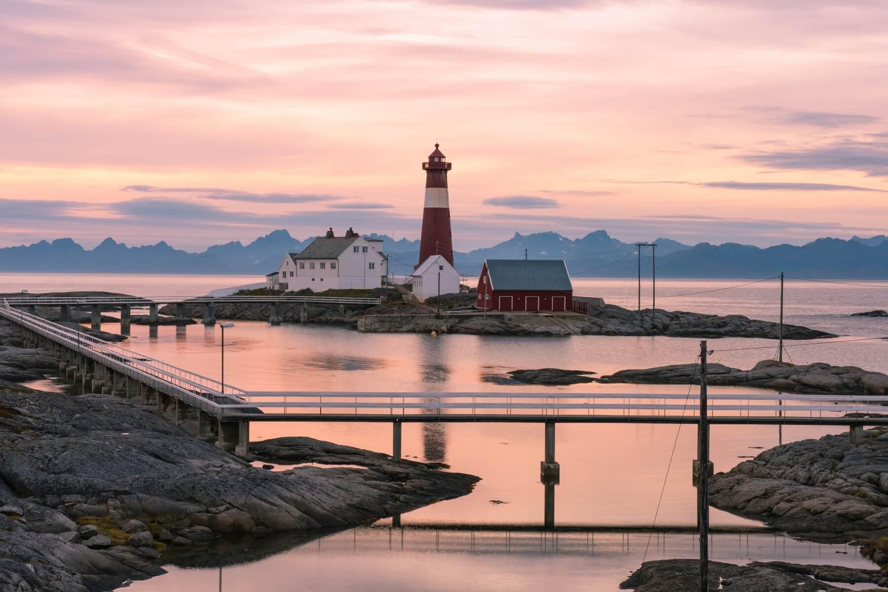 Leuchtturm in Norwegen