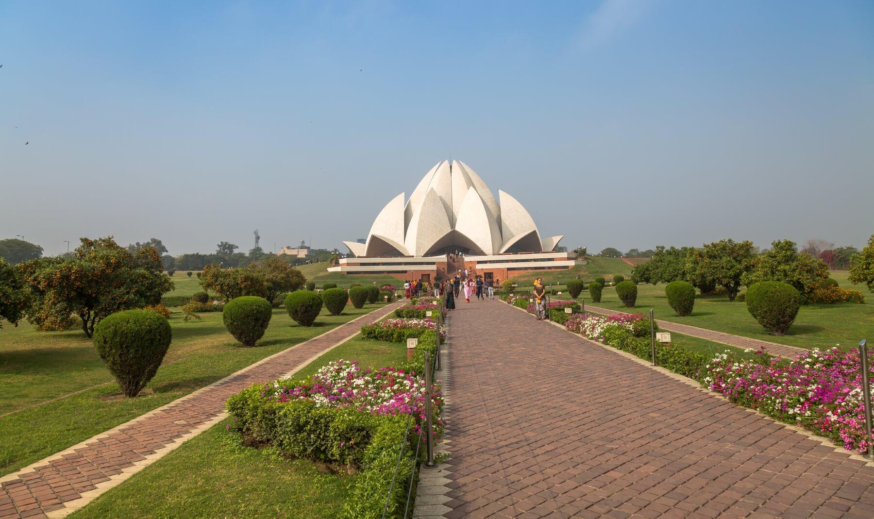 Außergewöhnliche Architektur in Delhi