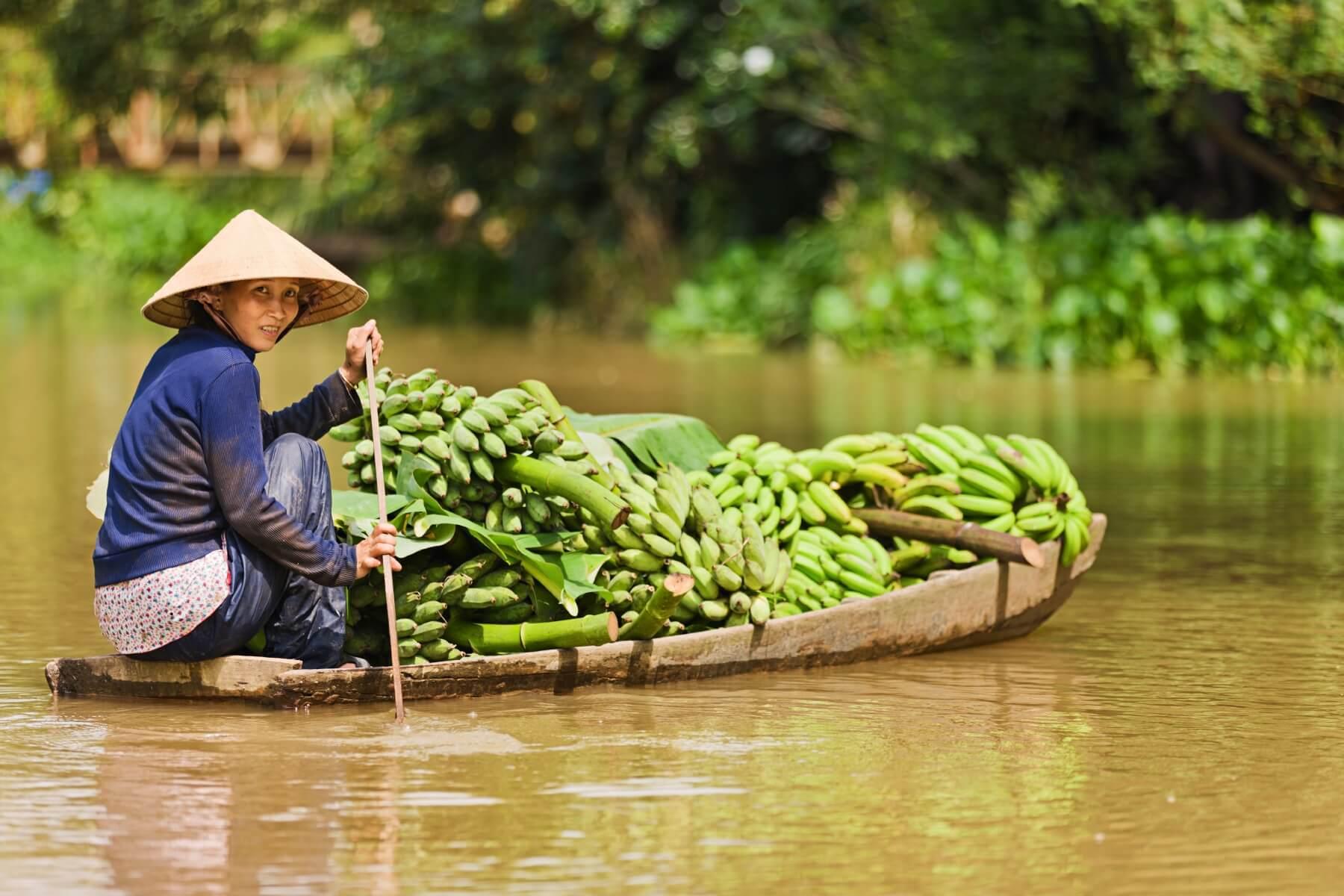 Auf den Mekong