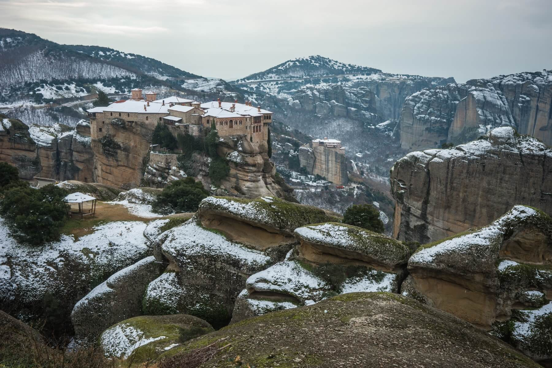 Meteora-Klöster im Winter