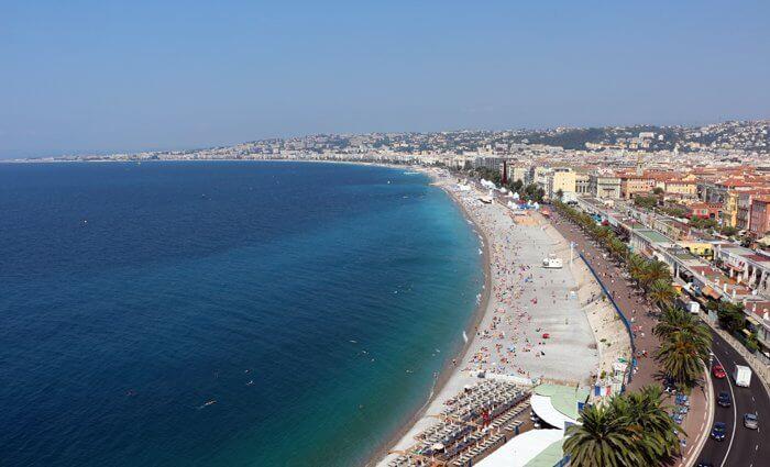 ERV Blog Strand in Nizza Südfrankreich