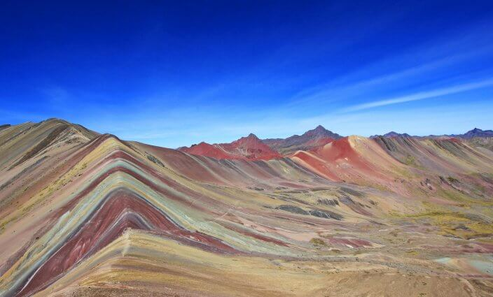 Regenbogen-Berge Peru