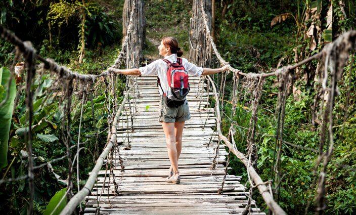 Wandern im Regenwald