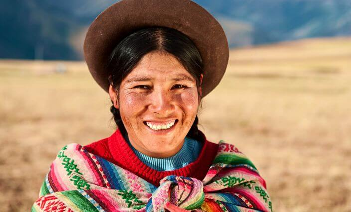 Frau aus Südamerika
