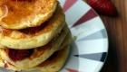 Kochen Camping Erdbeer Pancakes