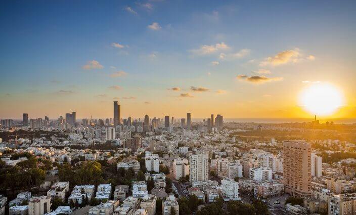 Sonnenuntergang in Tel Aviv