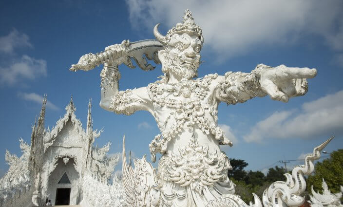 Wat Rong Khun Statue