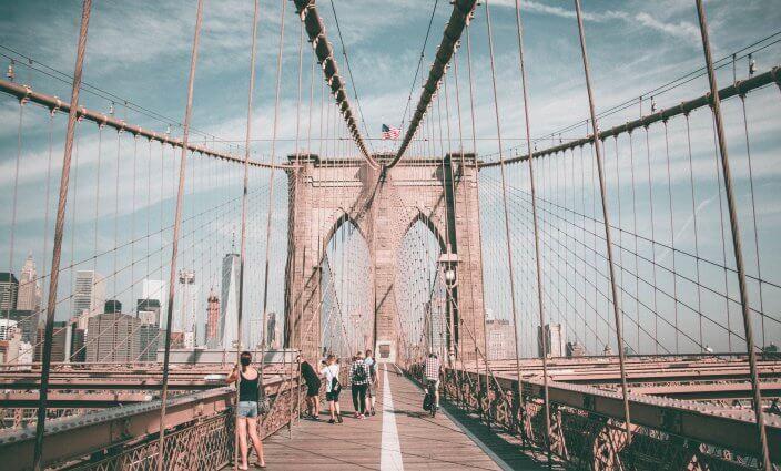 Brooklyn Bridge New York Krank in USA