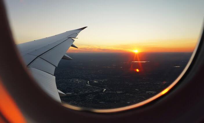 Fliegen in die USA Aussicht