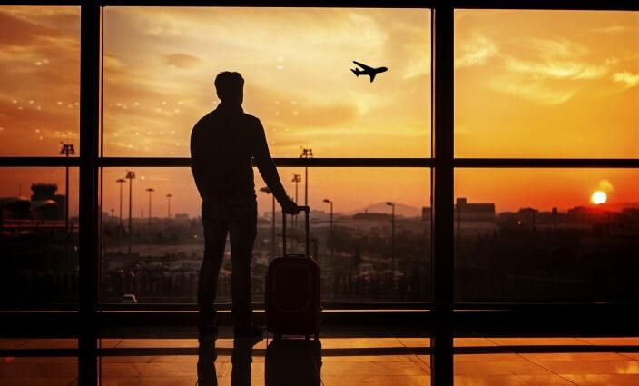 Handgepäck am Flughafen