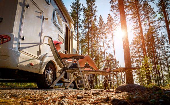 Camping-Urlaub in der Natur
