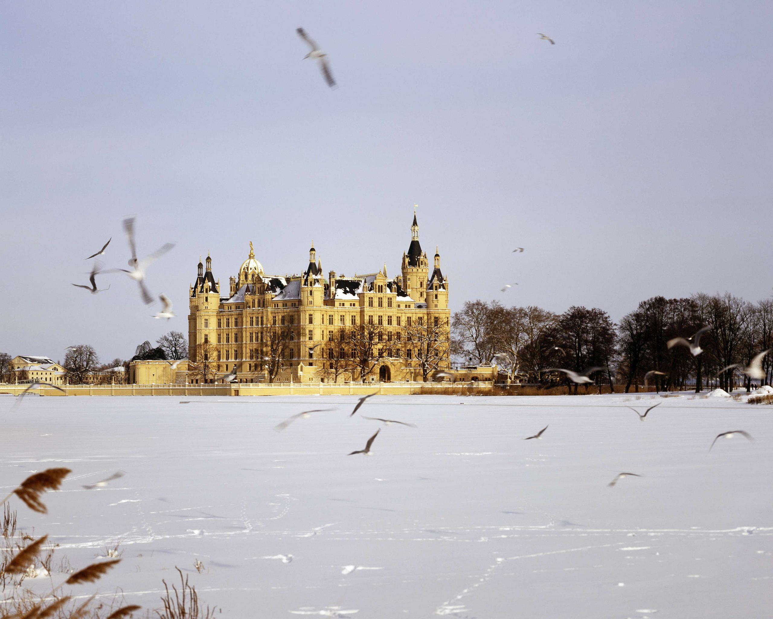 Schloss Schwerin im Winter
