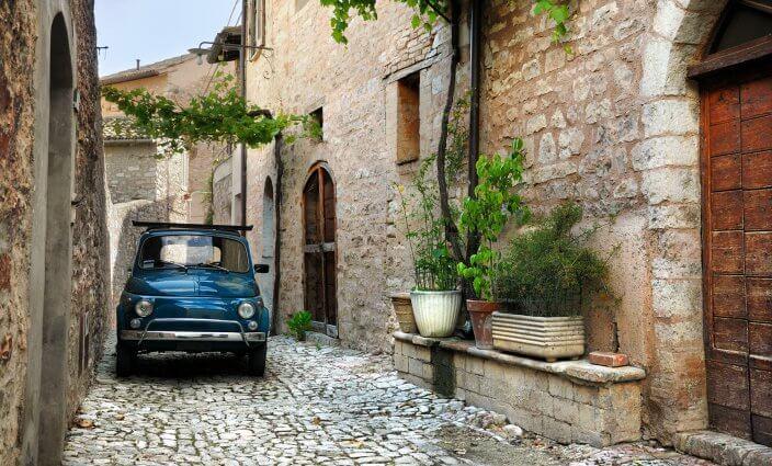 Strasse in Borghi Italien