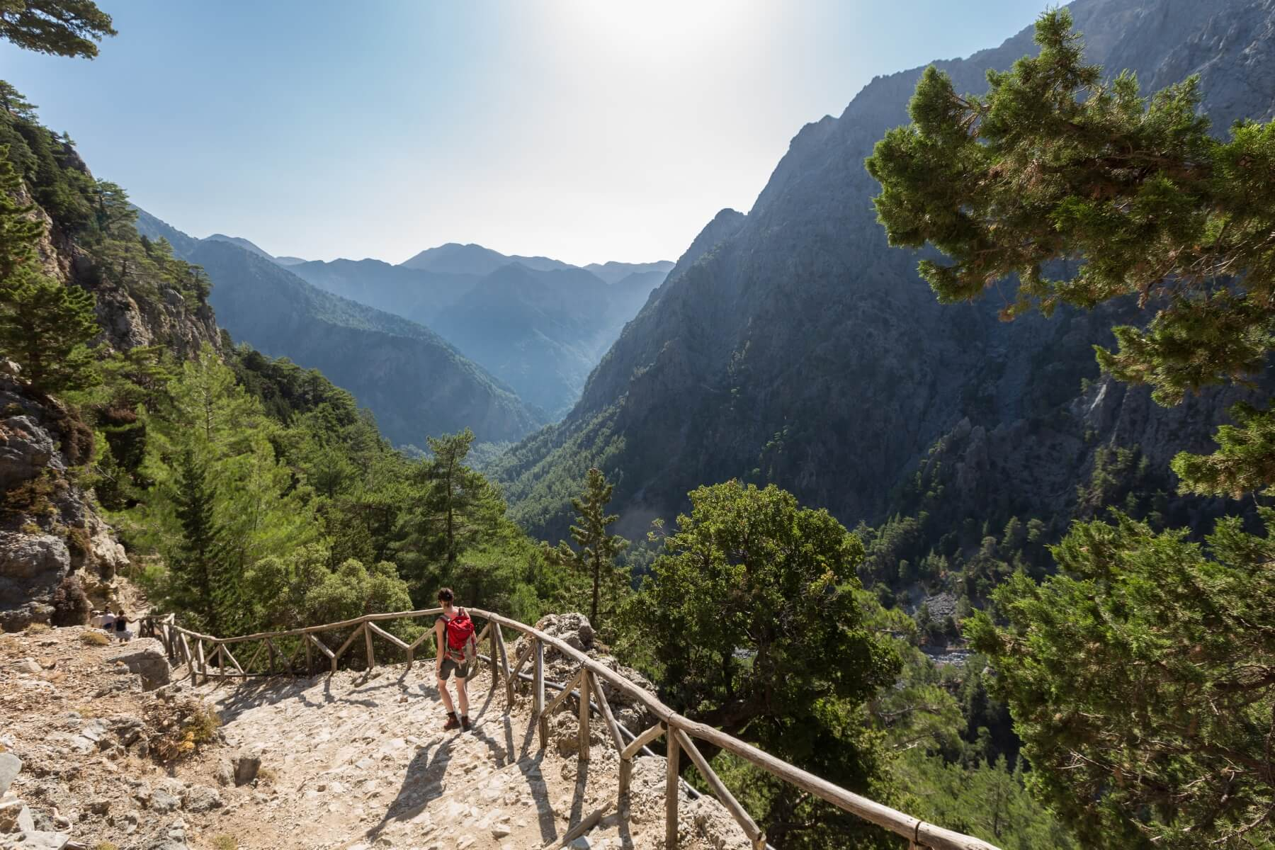 Wanderung in Europa Samaria-Schlucht auf Kreta