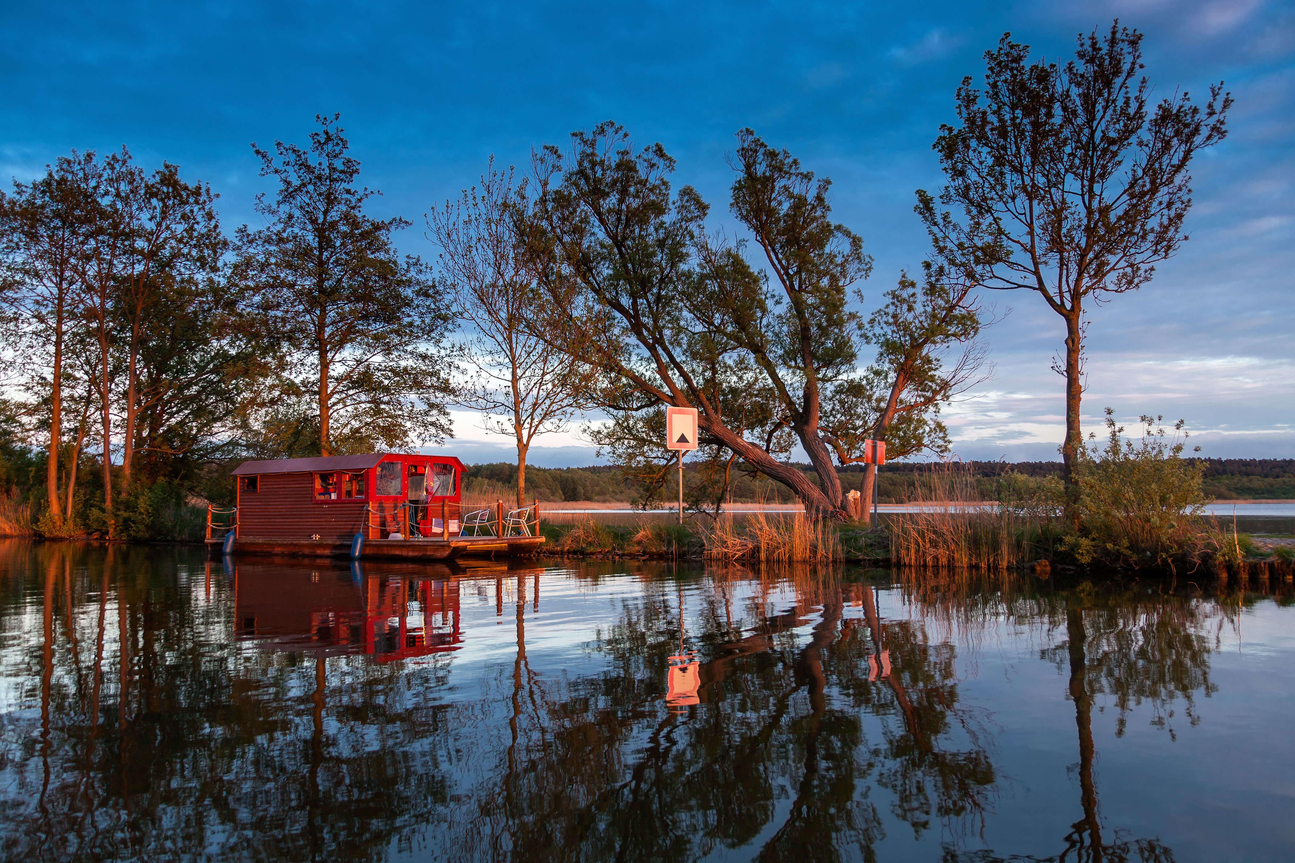 Hausboot Bunbo auf der Havel, Labussee in Mecklenburg Vorpommern