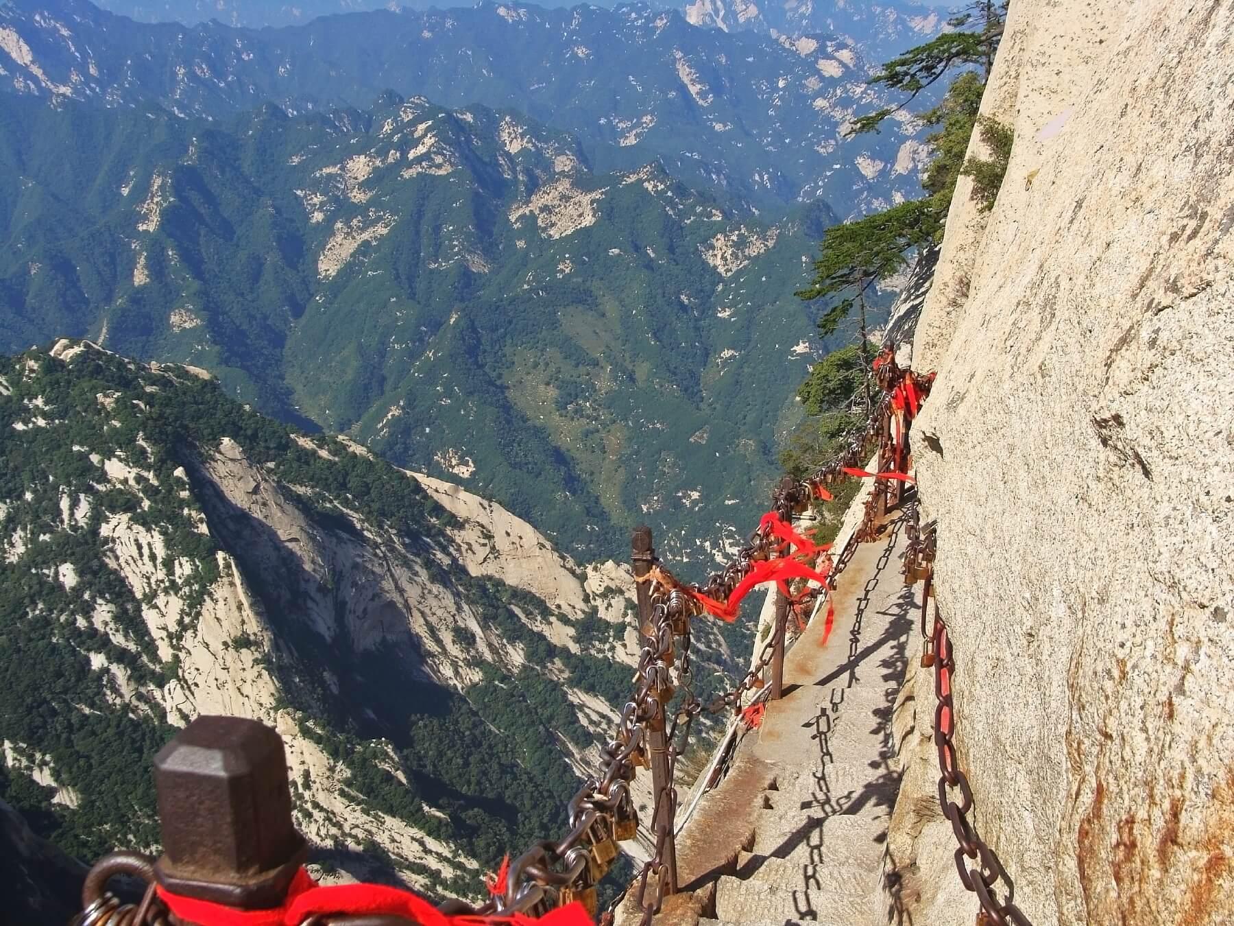 Wanderweg am Mount Huashan