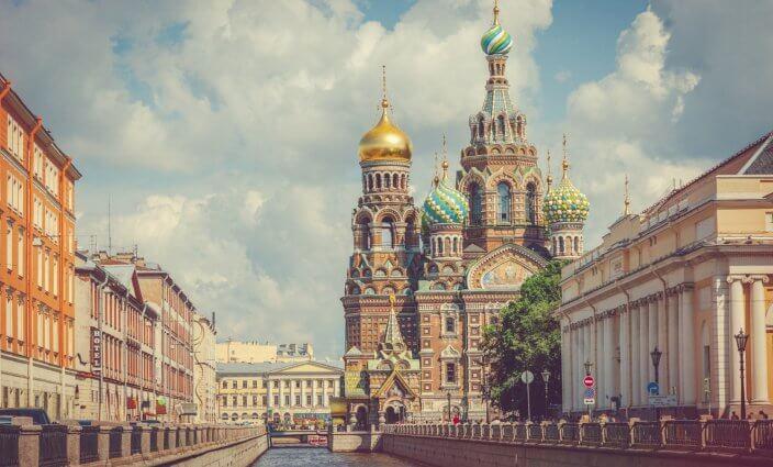 Richtig verhalten in Russland Sankt Petersburg Kathedrale