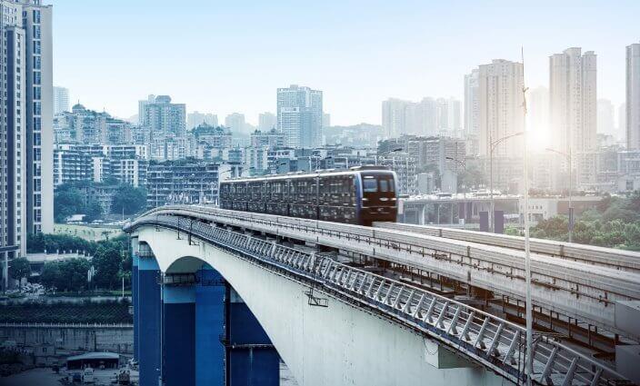 Chongqing die einsamste Metrostation der Welt