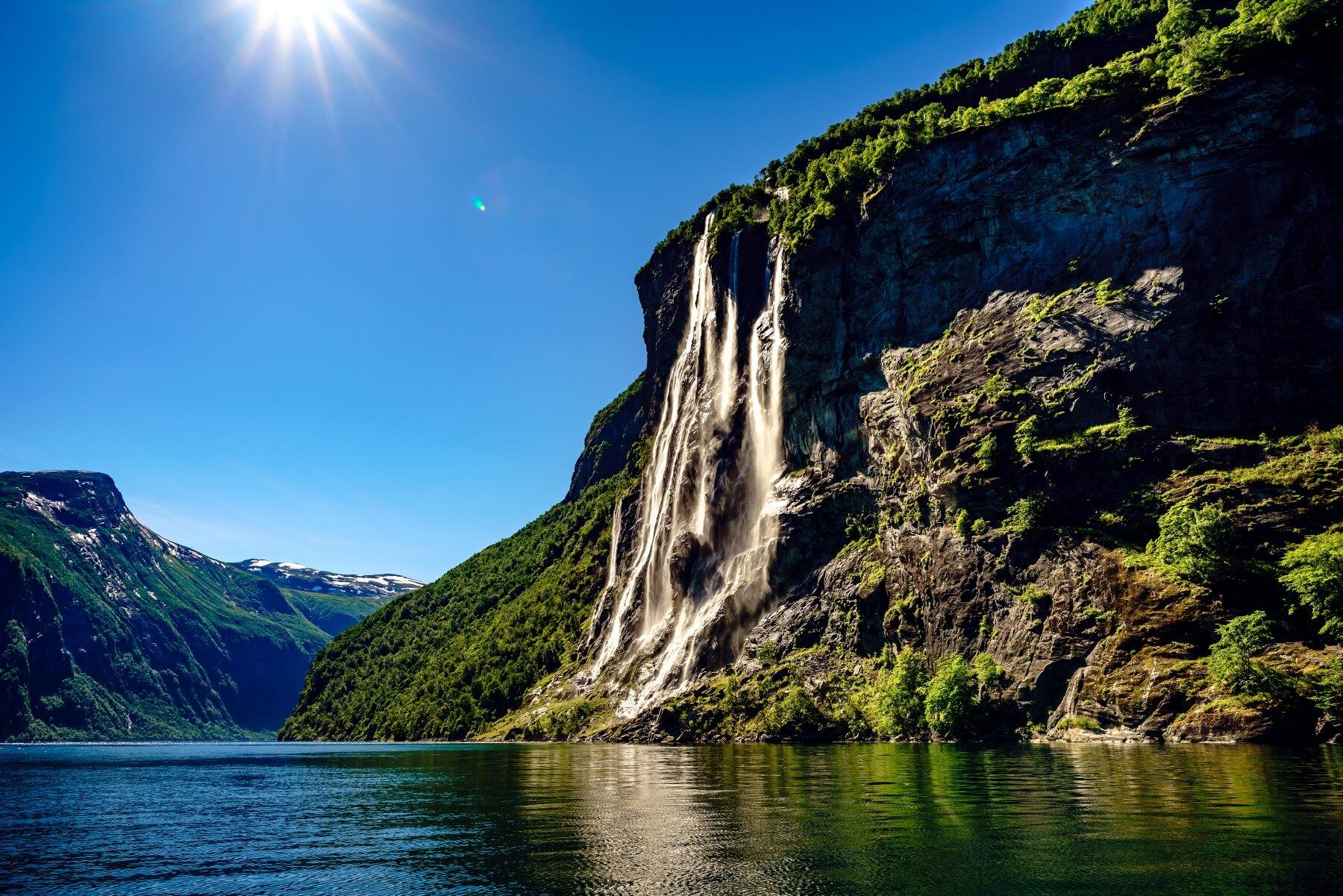Wandern in Europa Geiranger Fjord Norwegen