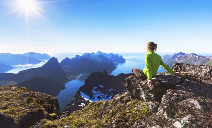 Wandern in Europa Berge Norwegen