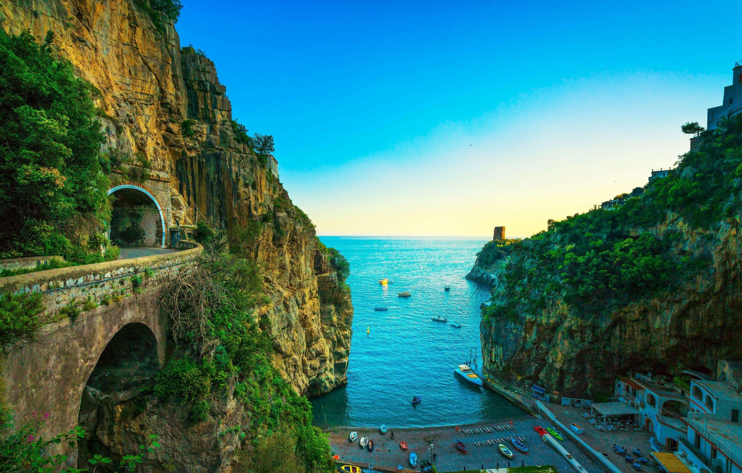 Amalfitana Küstenstrecke Furore Amalfiküste Italien Roadtrip Europa