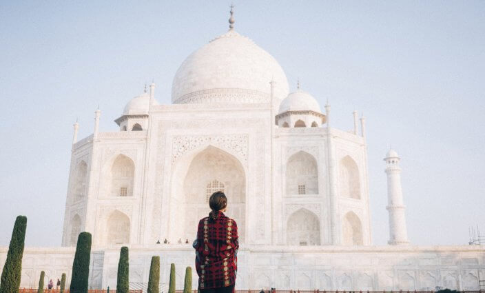 allein reisen Taj Mahal Indien