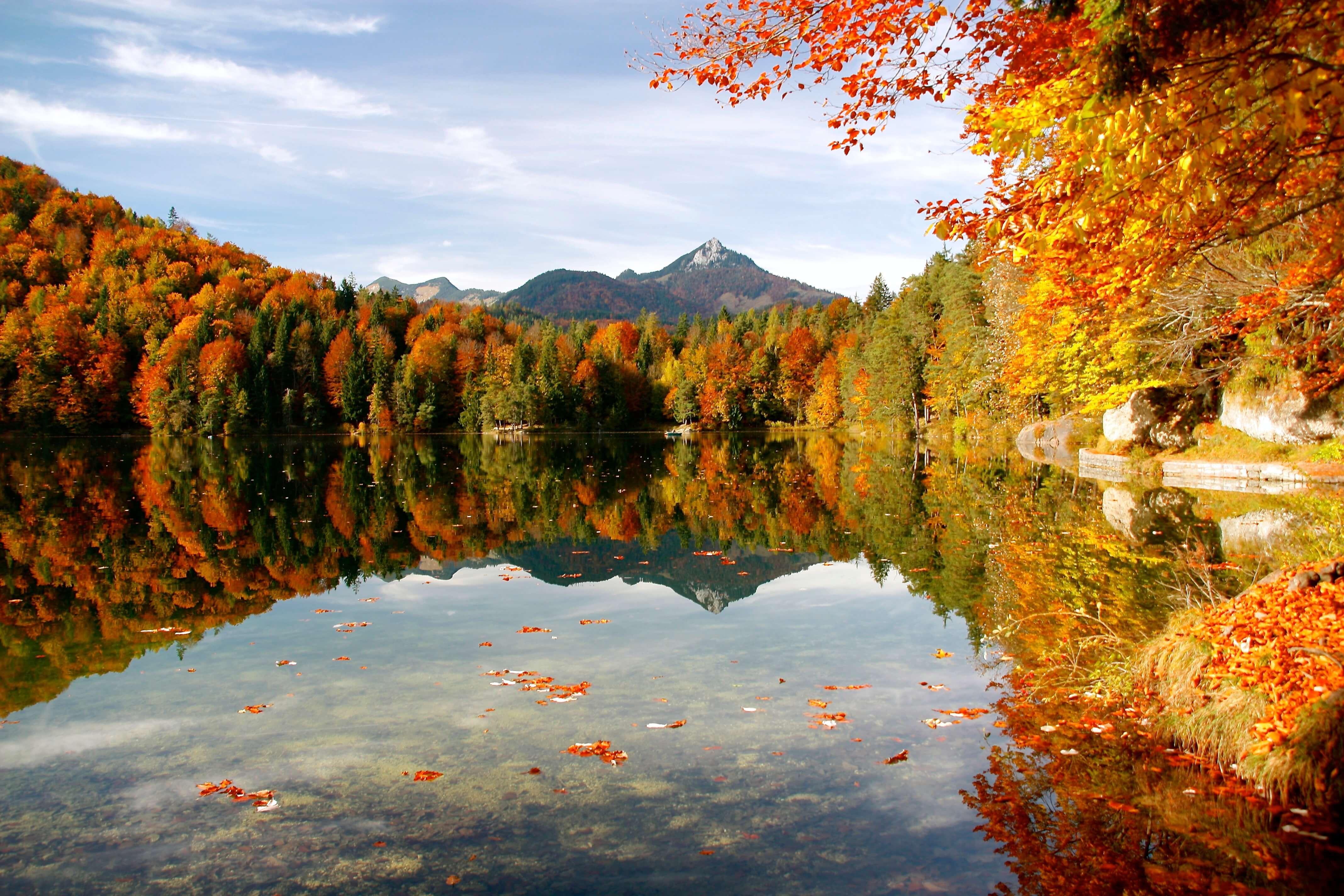 Mountain late in autumn