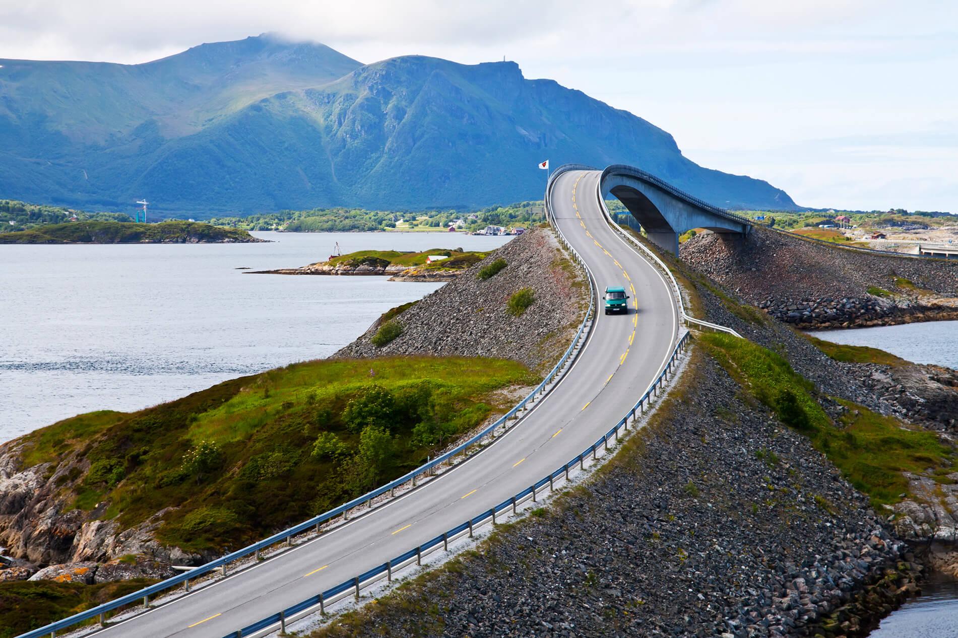 Norwegen Storseisund Brücke
